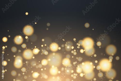 Fototapeta Shining bokeh isolated on transparent background.  obraz na płótnie