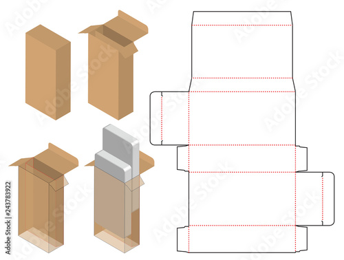 Box packaging die cut template design. 3d mock-up Canvas-taulu