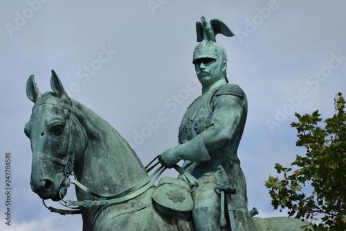Foto  Wilhelm II horse statue in Cologne ,Koln, Germany ,13 may, 2017