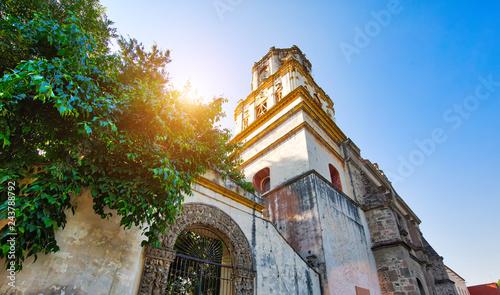 Parish of San Juan Bautista on Hidalgo square in Coyoacan Wallpaper Mural