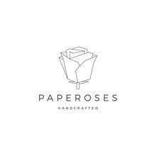 Geometric Paper Flower Rose Lo...