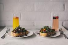 Avocado Toast And Mimosa Serve...