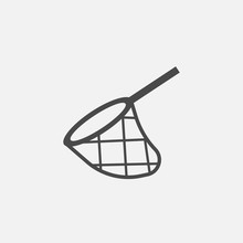 Net Vector Icon Catching Trap