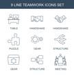 9 teamwork icons