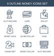 9 money icons