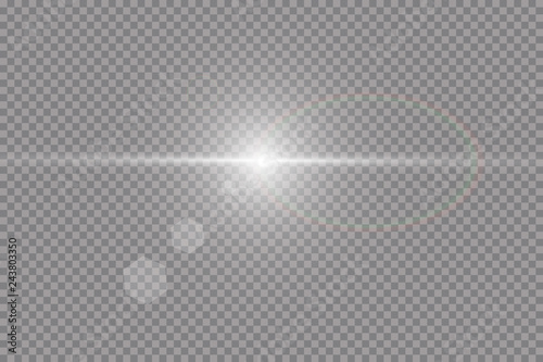 Fotografie, Obraz  Vector transparent sunlight special lens flare light effect.