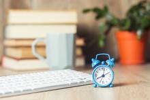 Alarm Clock And Keyboard On Th...