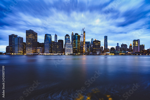 Cadres-photo bureau Batiment Urbain Manhattan Skyline from Brooklyn Bridge Park, NYC USA