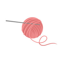 Pink Ball Of Wool Yarn With Me...