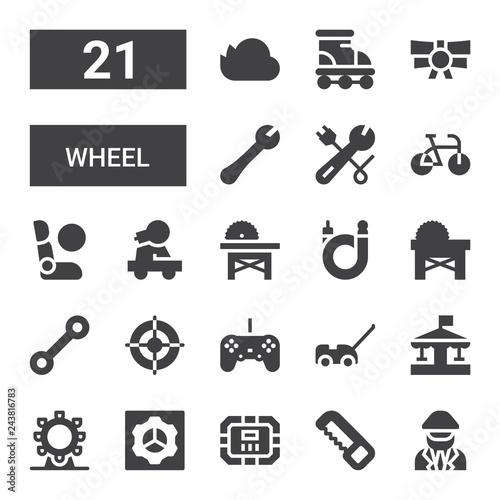 Photo  wheel icon set