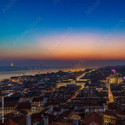 Tuinposter Europa Lisbon by Night 01