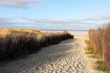 Fototapeta Las - Strandzugang zur Nordsee auf Insel Juist