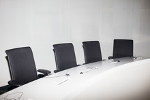 Chairs In A Conference Room.