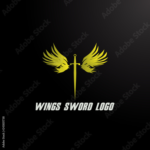 sword and wings logo icon