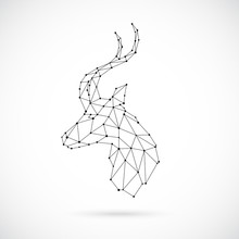 Abstract Geometric Antelope He...
