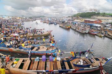 Elmina fishing fleet in Ghana