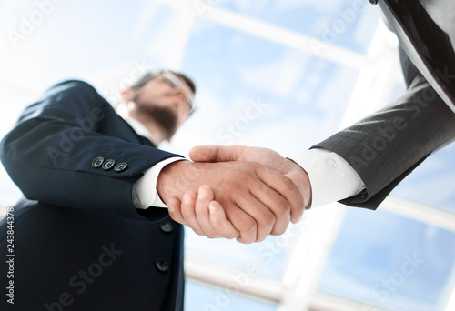 bottom view.handshake business people