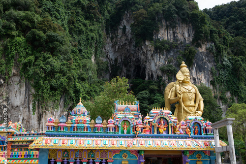 The Batu Caves Lord Murugan Statue and entrance near Kuala Lumpur Malaysia Canvas Print