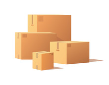 Containers Of Different Size, Carton Storage Boxes