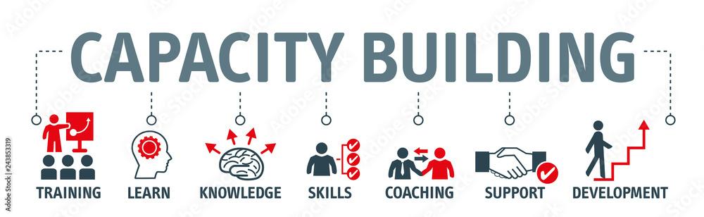 Fototapeta capacity building vector illustration concept