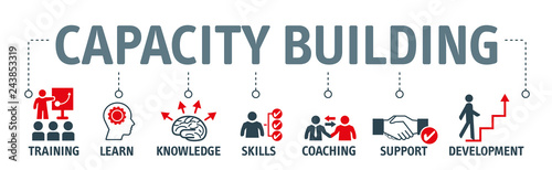 capacity building vector illustration concept Fototapet
