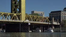 Zoom Out From Tower Bridge, Sacramento, California, USA