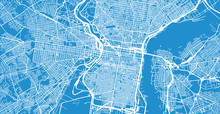 Urban Vector City Map Of Philadelphia, Pennsylvania, United States Of America