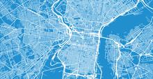 Urban Vector City Map Of Phila...
