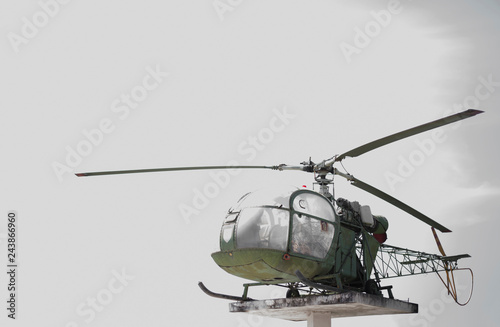 Tuinposter Helicopter Old and outdated helicopters cannot be used.