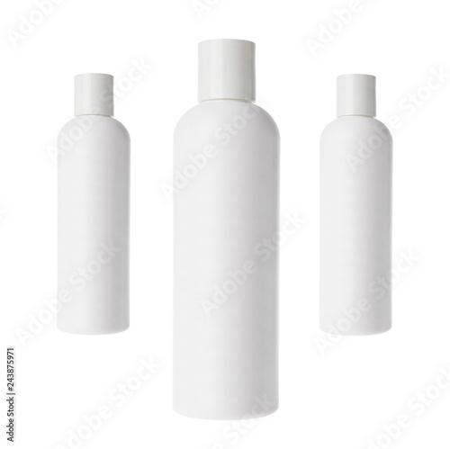 Fotografie, Obraz  Shampoo bottles isolated on white background