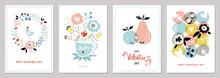 Valentine's Cards In Scandinavian Style.