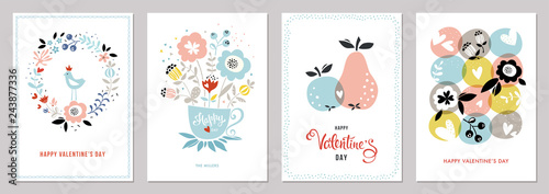 Valentine's Cards in scandinavian style.