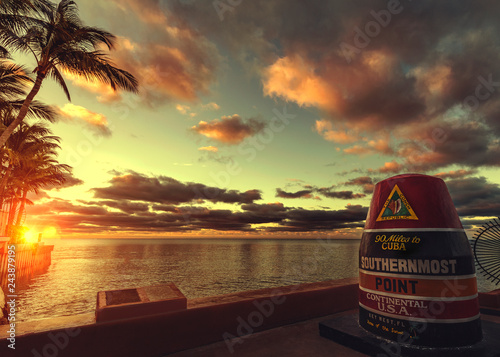 Key West Southernmost Point Canvas Print