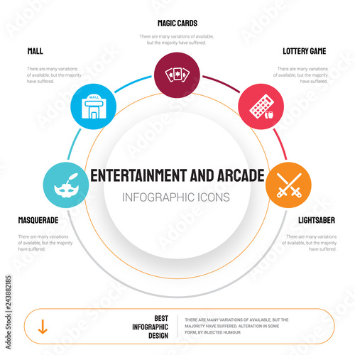 Photo  Abstract infographics of entertainment and arcade template