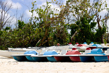Lot Of Colorful Pedal Boat On ...
