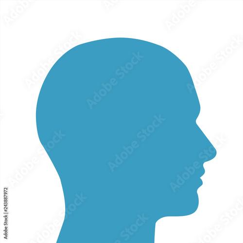 Fotografie, Obraz  silhouette testa vettoriale maschile