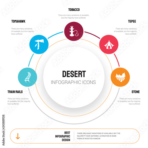 Abstract infographics of desert template  Train Rails