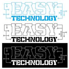Easy Technology Emblem, Logo F...