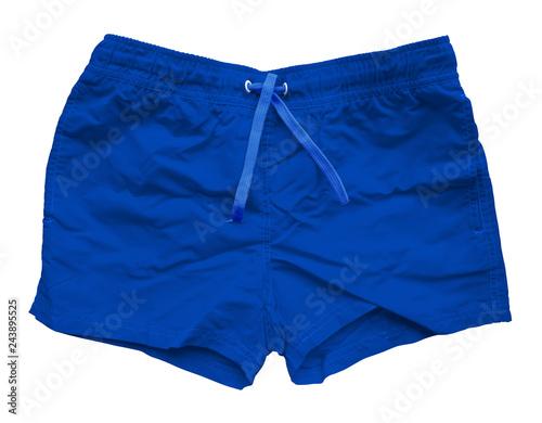 Fotografía  Blue sports shorts isolated