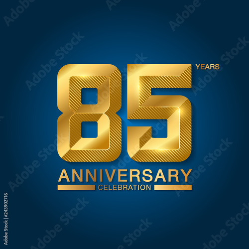 Fotografía  85 years anniversary celebration logotype