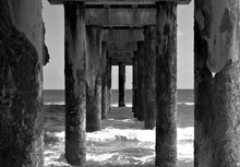 View From Below Fishing Pier A...