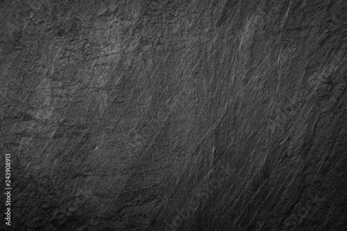 Photo  Dark grey and black slate background or texture