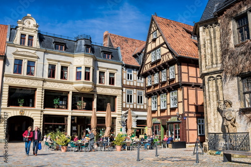 Tuinposter Europa Quedlinburg, Marktplatz