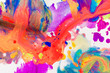 Fragment of artwork or art colorful background of acrylic water color