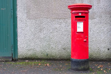 Red Pillar Post Box For Mail C...