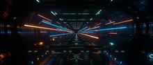 Dark Spaceship Interior Bridge...