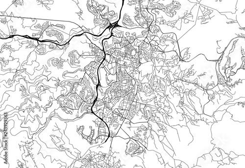 Fotografie, Obraz Area map of Jerusalem, Israel