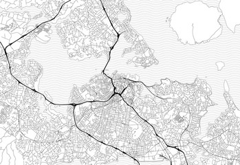 Area map of Auckland, New Zealand
