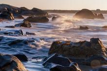 Motion Blur Wave Breaking Rock...