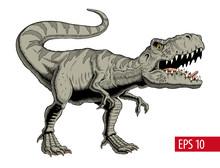 Tyrannosaurus Rex Or T Rex Din...